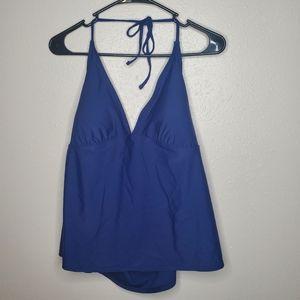NEW Ika Kul Blue Tankini Halter Style Swim Top 14